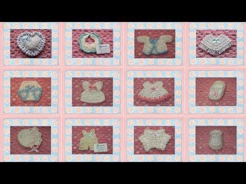 Recuerdos para Baby Shower o Bautizo elaborados a mano (crochet)