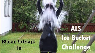 "getlinkyoutube.com-Kari Berg in latex doing the ""ALS Ice Bucket Challenge"""