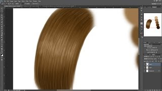 getlinkyoutube.com-How to paint hair digitally for beginners + make a custom hair brush in photoshop