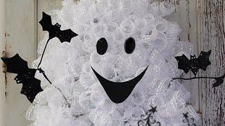 getlinkyoutube.com-Ghost Wreath Tutorial