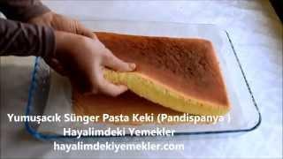 getlinkyoutube.com-Yumuşacık Sünger Pasta Keki (Pandispanya )