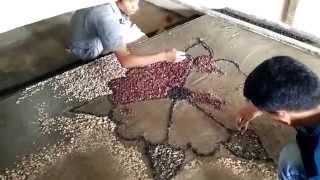 getlinkyoutube.com-Pemasangan batu alam (koral motif bunga) part 02