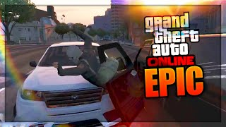 CRAZY PARKOUR! (GTA 5 Epic Clips, Glitches, & Online GTA 5 Funny Moments)
