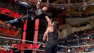 getlinkyoutube.com-Roman Reigns vs. Alberto Del Rio: Raw, April 25, 2016