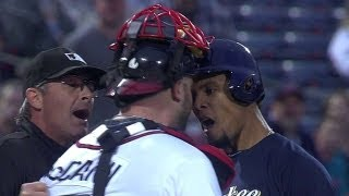 getlinkyoutube.com-Benches clear after Carlos Gomez's homer