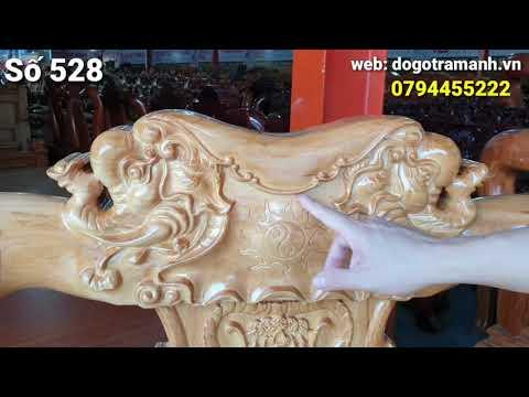 Salon voi gõ cột 12 giao chị Tiên ở TRẢNG BOM|Đồ Gỗ Trâm Anh|số 528