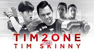 TIM2ONE vs TIMSKINNY | Join My Team For The Ultimate Tantangan Nerf!