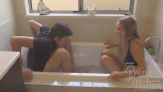 getlinkyoutube.com-BF vs GF - Ice Bath Challenge - Funny Videos