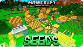 getlinkyoutube.com-Minecraft PE Seeds - STRONGHOLD with End Portal and 4 Villages Seed - 0.16.0 / 0.15.0 MCPE