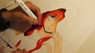 getlinkyoutube.com-Speeddrawing Manga girl