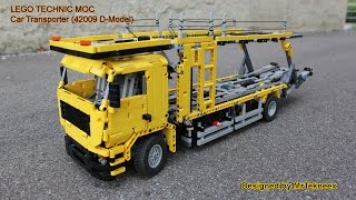 getlinkyoutube.com-LEGO Technic - Car Transporter (42009 D-Model)