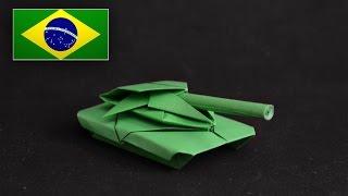 getlinkyoutube.com-Origami: Tank / Tanque de Guerra - Instruções em Português PT BR