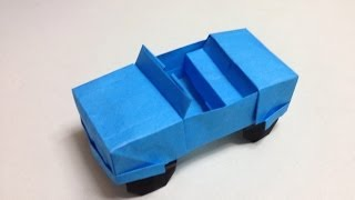 How to Make a origami jeep/car