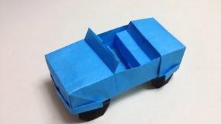 getlinkyoutube.com-How to Make a origami jeep/car