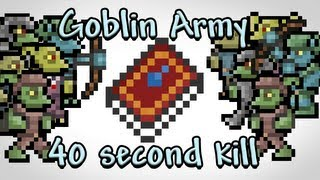 Terraria - Goblin Army in 40 seconds with Water Bolt (Speedkill)