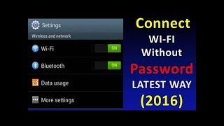 getlinkyoutube.com-How to Connect WIFI Without Password - 100% Working