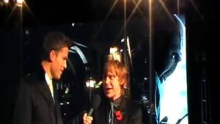 Rupert Grint being interviewed at the Deathly Hallows Part 1 Premiere in London