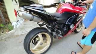 getlinkyoutube.com-Ninja250 ท่อคู่ Ducati848 ออกตูด