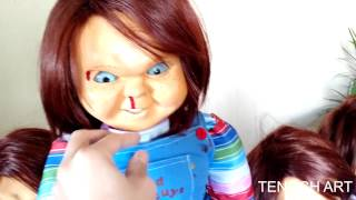 getlinkyoutube.com-Chucky Life Size Talking Doll Child's Play 2 Silicone rubber TENOCH ART