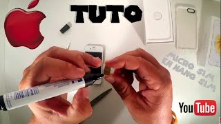 getlinkyoutube.com-[TUTO-GEEK] ▶︎ Transformer MICRO SIM ▷ en NANO SIM ☞pour les NULS