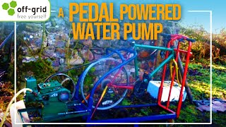 getlinkyoutube.com-Off-grid Pedal Powered Water Pump