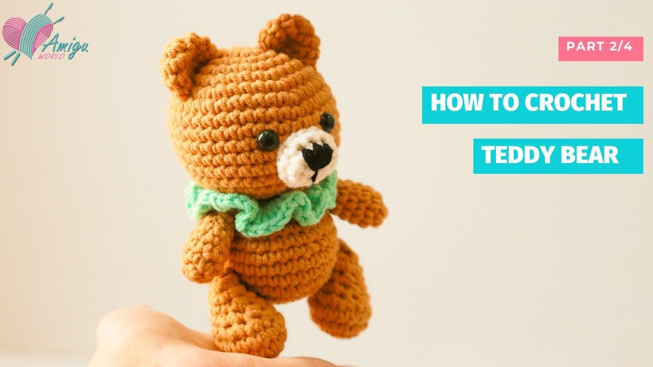 Teddy bear crochet amigurumi pattern by Amigu World (P2)