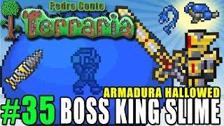 getlinkyoutube.com-Terraria 35 - PC - BOSS KING SLIME - Nova Armadura Hallowed