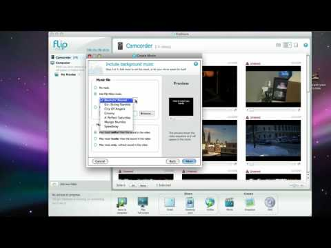 How to use FlipShare to make a quick movie