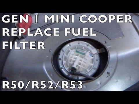 Где находится топливный фильтр у Mini Countryman