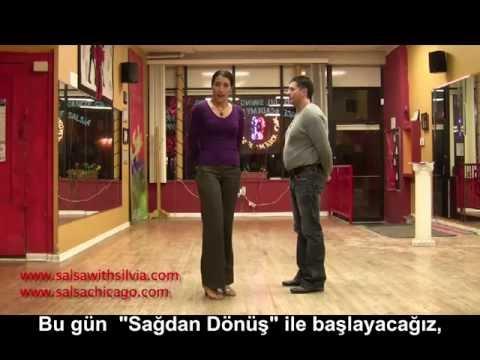 Türkçe Salsa Dersleri 1 - Sağdan Dönüş (Right Turn) - Salsaloji.com