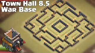 getlinkyoutube.com-Clash of clans - Town hall 8.5 War Base [The trap] + Replay