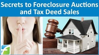 getlinkyoutube.com-Secrets to Foreclosure Auctions and Tax Deed Sales
