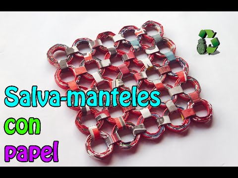 54. DIY SALVA MANTELES (RECICLAJE DE PAPEL)