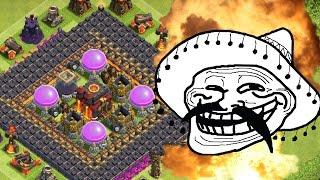 Trollbase Verteidigung || 275 Mauern || Clash of Clans [Deutsch/German HD+]