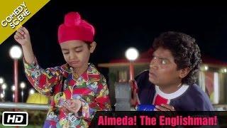 getlinkyoutube.com-Almeda! The Englishman! - Comedy Scene - Kuch Kuch Hota Hai - Johnny Lever, Farida Jalal,