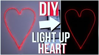 getlinkyoutube.com-DIY TUMBLR VALENTINE'S ROOM DECOR 2017! LIGHT UP HEART!