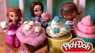 getlinkyoutube.com-Sofia Royal Tea Party, Talking Sofia the First doll, Play Doh Tea For Two With Doc McStuffins