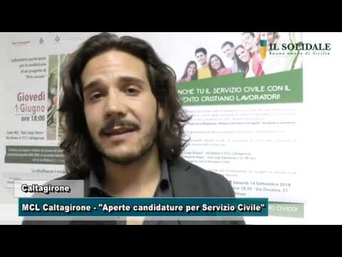 Video: Caltagirone MCL, Aperte candidature per servizio civile