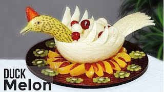 getlinkyoutube.com-Carving with Melon and Banana By J.Pereira Art Carving Fruit and Vegetables