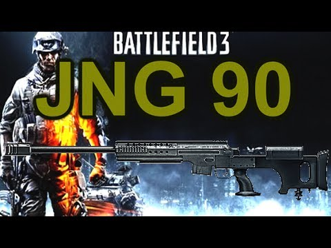 Battlefield 3 Online Gameplay - JNG 90  Weapon Review on PC LIVE COM