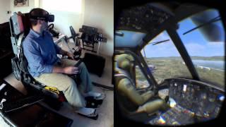 getlinkyoutube.com-DCS Huey on the Oculus Rift DK2 / Max Flight Stick - Collective