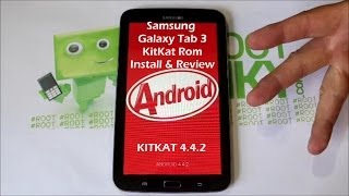 getlinkyoutube.com-Galaxy Tab 3 7in KitKat Rom install and review