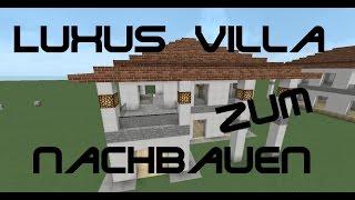 getlinkyoutube.com-Minecraft Tutorial - Wie baue ich ein kleines schönes Haus? - Luxusvilla zum nachbauen
