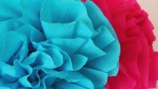 getlinkyoutube.com-Cómo hacer flores de papel crepe fáciles  -Manualidades para todos