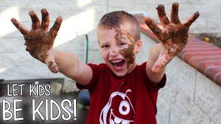Messy Messy Backyard Mud Play