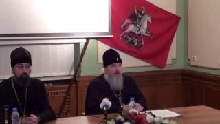 Пресс-конференция митрополита Кирилла