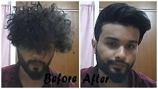 getlinkyoutube.com-From『 CURLY 』to『 STRAIGHT 』hairstyle for men【★】