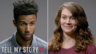 Would She Still Date Him After He Says This....??  | Tell My Story, Blind Date width=
