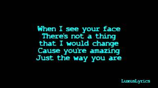 getlinkyoutube.com-Bruno Mars - Just The Way You Are lyrics [HD]