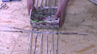 Papierowa wiklina krok po kroku - jak zrobić prostokątne dno